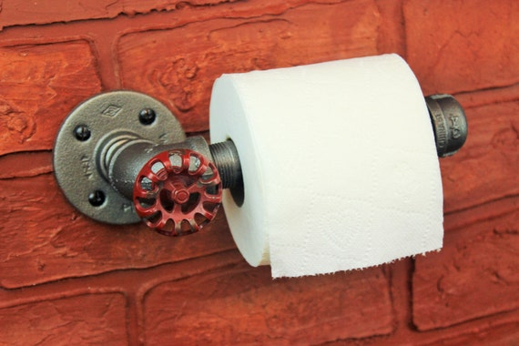 Industrial Pipe Toilet Paper Holder Steampunk By Hanormanor