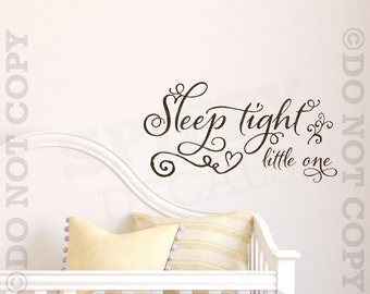 Sleep Tight Little One Vinyl Wall Decal Sticker Nursery Decor