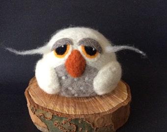 Owl, Needle Felted wool