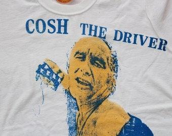 """Cosh The Driver Tshirt - Punk  -Screenprinted Tee- White  Tshirt - Sex Pistols - Unisex - Medium 38"""""""