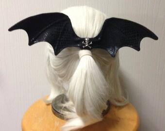 Bat wing hair bow