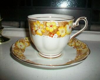 Royal Albert Dorothy Tea Cup and Saucer Vintage 1930s