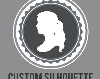 Custom Paper Silhouettes (One 5x7 inch Silhouette Per Listing)