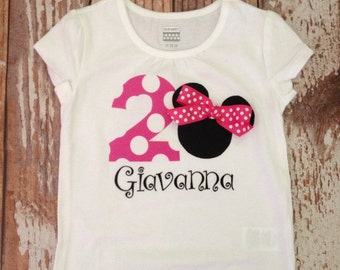Minnie Mouse Inspired Shirt - Hot Pink, Birthday Party Shirt, Disney Vacation Shirt