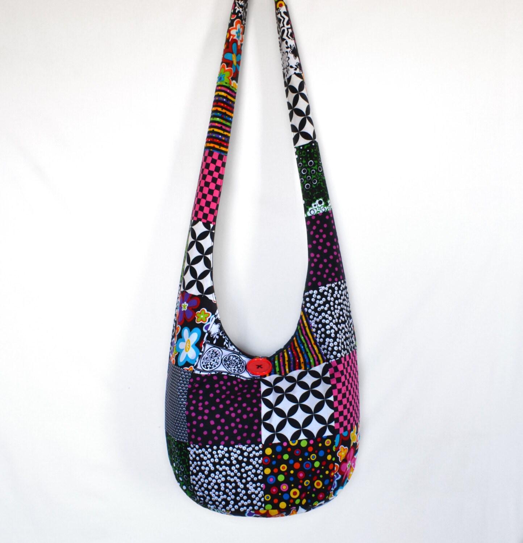 cross bag hobo bag hippie purse sling bag boho by