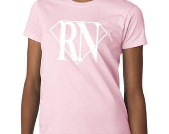 Super RN Women T-Shirt TShirt for Nurses, Gifts for Her,Gifts for Nurses, Gifts for RN, Women Clothing