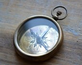 Compass Pendant Large London WORKING Compass Glass Face Antique Brass Compass Casing Vintage Style Compass Charm Jewelry Pendant (BA020)