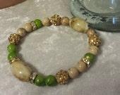 SALE SBS LimeNaide  Crystal and acrylic beads. 1 bracelet