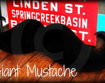 Giant Wood Mustache decor- Wood Mustache-  Little Man- Handlebar Mustache-Little Man Party- Mustache party- Mustache decorations