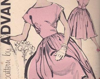 1960s Summer Dress Pattern Advance 9856 Size 12 Uncut