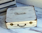 LARGE Personalized Memory Keepsake Box Time Capsule (YOUR COLOR and MeSsAgE CHoIce)