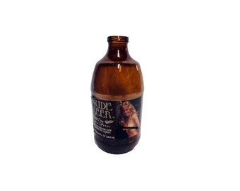 CLEARANCE Vintage Nude Beer Bottle - Vintage Sexy Naked Female, Scratch Off Beer Label, 1970s Nude Lady, Brown Bottle, Eastern Brewing Corp