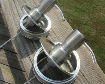 DIY Kitchen and Bath Mason Jar Foaming Hand Soap Pump Dispenser Foamer  - Regular or Wide Lids - Buy 3 or More and Get 1 More Free