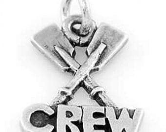 Sterling Silver Rowing Crew Paddle Crew Charm