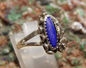 Native American Sterling Blue Lapis Ring