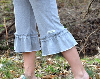 Women's Capri Ruffle Pants