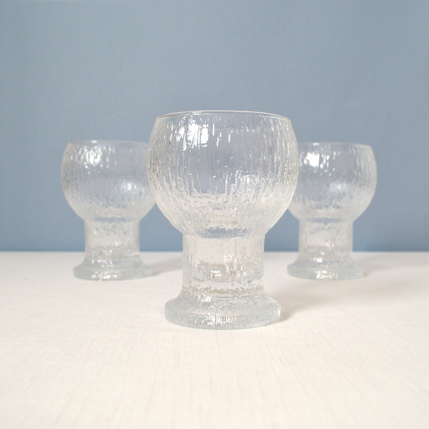 vintage iittala tapio wirkkala kekkerit water goblets. Black Bedroom Furniture Sets. Home Design Ideas