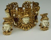 Selro Massive Asian Princess Bracelet Earring set