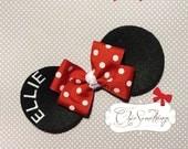 Minnie Mouse Ears Headband, Baby Minnie mouse ears headband, Custom Minnie, Childrens Toddler Infant,Halloween Costume, Birthday Minnie Ears