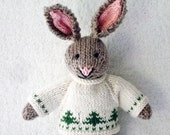 Knitted Toy - Stuffed Animal - Knitted Bunny - Hand Knit Toy - Kids Christmas Toy  Knitted Rabbit - Waldorf Toy - Hand Knitted Animal - KRIS