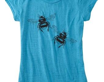 Womens BEE T Shirt Gift for The Garener Bumblebee Womens TShirt Ladies Clothing