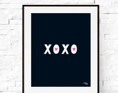 XO Print - Love Art - Valentine's Day Printable - XOXO Art Print - Typography - Office Artwork - Home Decor - Kids Decor - Nursery