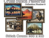 Fantasy Castle Cross Stitch Patterns: Collection Number 2 Mythical Art Cross Stitch Designs Castle Medieval Dark Stronghold Fortress Graph