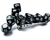 Black Dice Hair Clips