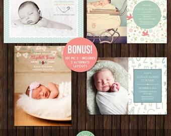 5x7 Press Magnet Birth Announcements  - PR1