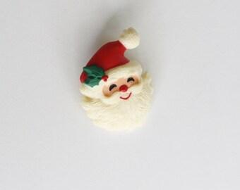 Vintage Santa Brooch// retro pin