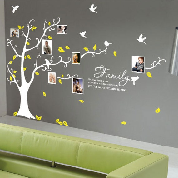 arbre g 233 n 233 alogique oiseaux wall cite stickers muraux wall wall decals amp murals etsy uk