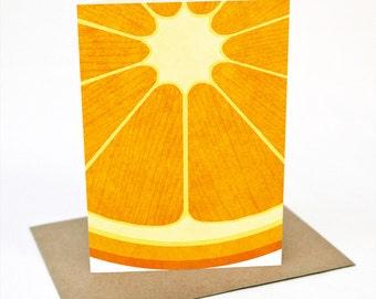 Orange -  Greeting card