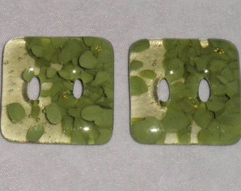2 Tone Green Large Buttons