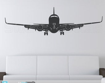 Airplane Wall Decal - Airplane Decor - Childrens Decor - Nursery Wall Decals - Airplane Sticker - Aviation Room Decor