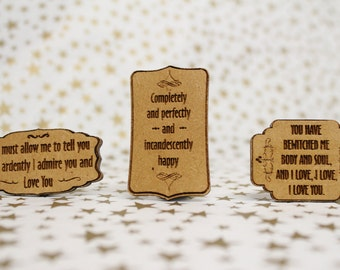 Cross Stitch Needle Minder, Pride and Prejudice Quotes, Wood Magnetic Needle Minder. Hand embroidery, Needle Keeper.