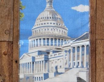 US Capitol Tea Towel Kitchen Table Runner Souvenir