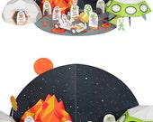 Space Paper Set - DIY Paper Craft Kit - Paper Set