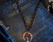 Disney Jewelry, Alice in Wonderland Jewelry, White Rabbit Steampunk Alice in Wonderland, Steampunk Jewelry, March Hare, steampunk necklace,