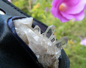 Natural Quartz Cluster Crystal Pendant Statement Necklace Unique Handmade Gypsy Jewlery