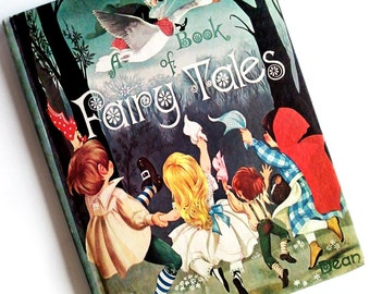 Rare Vintage Dean's A Book of Fairy Tales British Children's Illustrations Janet & Anne Grahame Johnstone