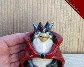 Penguin, Penguin Queen, Whimsical penguin, Stoneware clay penguin, Penguin Gift, Handmade penguin