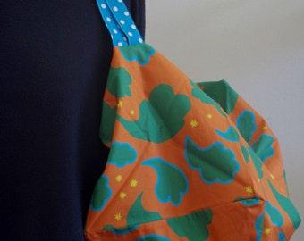 Square bag ''mistral'' orange