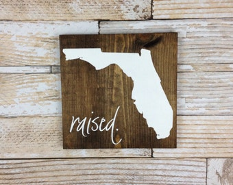 State Raised Wood Sign, State Sign, Wood State, State Pride, Hand Painted Rustic Home Decor, Wall Art