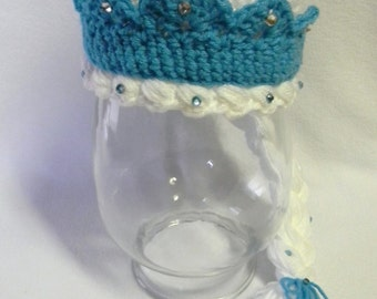 Frozen Ice Princess Crochet Hat - Made To Order
