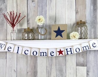 Welcome Home Sign, Deployment Homecoming, Welcome Home Banner, Welcome Home Daddy