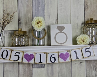 Save The Date Banner, Wedding Banner, Save the Date, Engagement Photo Prop