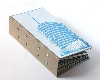 52 CD/ DVD Holder Art Book Handmade from Upcycled Album Cover- Hollywood Edition, CD Wallet, Dvd storage, Cd case