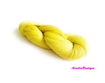 Linen yarn, linen thread,  1ply yarn, sulfur thin yarn, laceweight yarn