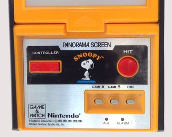 Snoopy Panorama by Nintendo Game & Watch, Snoopy Panorama Screen edition of Snoopy from 1983, Retro Games, Collectible Nintendo Game