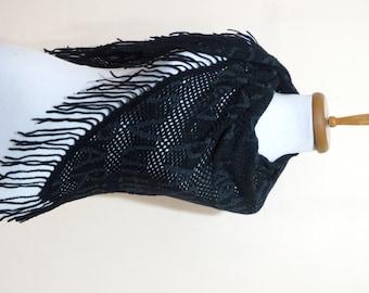 2015 trends scarf, Dark Blue, machine-knitted shawl, women scarves..Printed in Paris scarf, neckwarmer, scarflette...